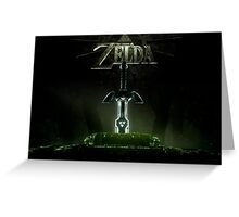 Zelda Master Sword Greeting Card