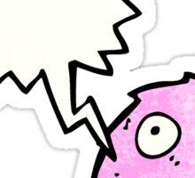 little pink furry monster cartoon Sticker