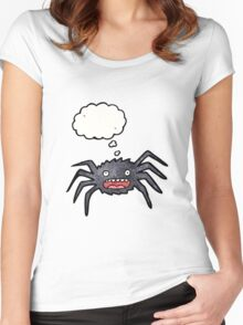 cartoon spider Women's Fitted Scoop T-Shirt