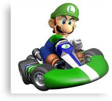 Luigi Kart Metal Print
