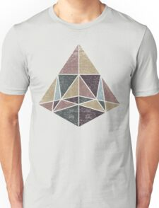 Abstract Geometry Pyramid with Earth Tones T-Shirt