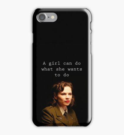 A girl can do. iPhone Case/Skin