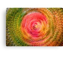 Abstract Autumn Leaf Swirl Canvas Print