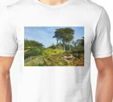 San Francisco Colorful Spring - Blooming Hillside with Pines Unisex T-Shirt