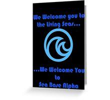 Sea Base Alpha Greeting Card