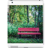 Lone bench iPad Case/Skin