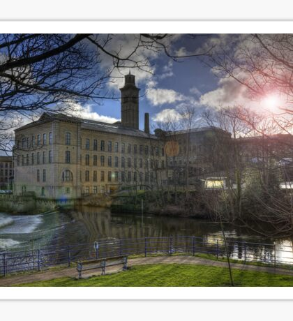 Salts Mill By The River Sticker