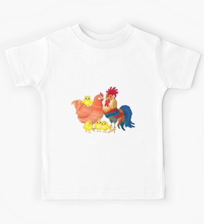 Family rooster Kids Tee
