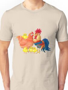 Family rooster Unisex T-Shirt