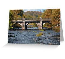 Bridge Over the Maine. Greeting Card