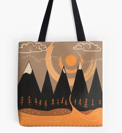 Sunny Mountain Pass Tote Bag