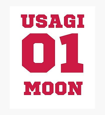 Usagi 01 moon Photographic Print