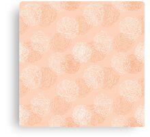 Layered Vine Roses Canvas Print