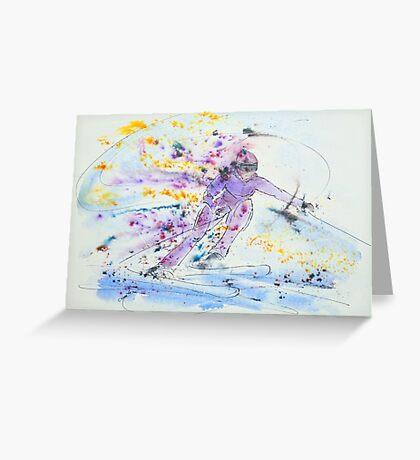Skier no.2 Greeting Card