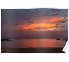 Beautiful Dusk at Zephyr Cove Poster