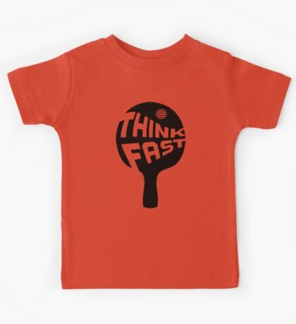 Ping Pong Think Fast Kids Tee