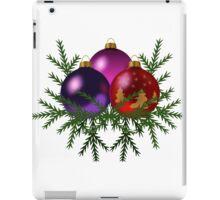 Christmas tree toys art iPad Case/Skin