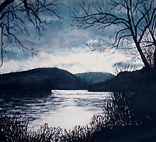 River/Trees/Water by LeonaPaints