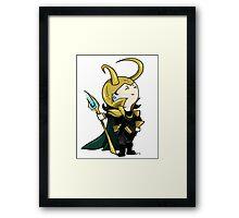 Little Loki Framed Print