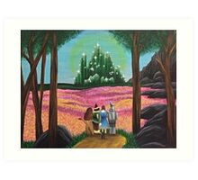 Off to see the wizard Art Print