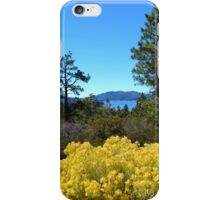BIG BEAR LAKE WITH BRIGHT YELLOW FALL FLOWERS iPhone Case/Skin