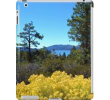 BIG BEAR LAKE WITH BRIGHT YELLOW FALL FLOWERS iPad Case/Skin
