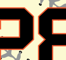 Buster Posey Baseball Design Sticker
