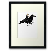 Edgar Allan Poe and Raven Framed Print