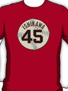 Travis Ishikawa Baseball Design T-Shirt