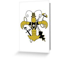 The Who Dat Crawfish Greeting Card