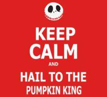Keep Calm & Hail To The Pumpkin King Kids Clothes