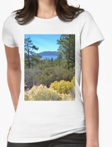 FALL COLORS SPECTACULAR IN BIG BEAR LAKE Womens Fitted T-Shirt