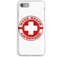 Nude Beach Lifeguard iPhone Case/Skin