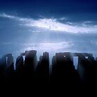 Stonehenge, England, in Blue Silhouette by John Bullen