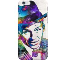 Frank Sinatra Art - Old Blue Eyes - By Sharon Cummings iPhone Case/Skin