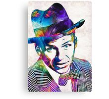 Frank Sinatra Art - Old Blue Eyes - By Sharon Cummings Canvas Print