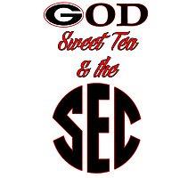 Georgia - God, Sweet Tea, & the SEC Photographic Print