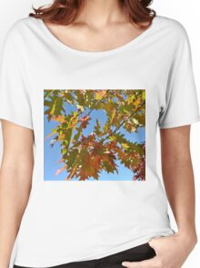 BRIGHTLY COLORED FALL LEAVES Women's Relaxed Fit T-Shirt