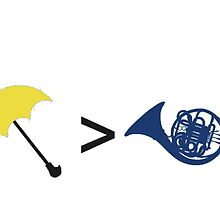 Umbrella is Greater than French Horn by WaldenWalters