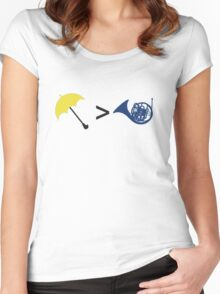 Umbrella is Greater than French Horn Women's Fitted Scoop T-Shirt
