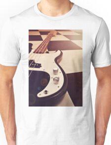 Black and white Bass Guitar. Unisex T-Shirt