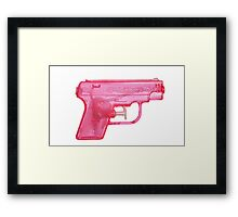 Water Gun Framed Print