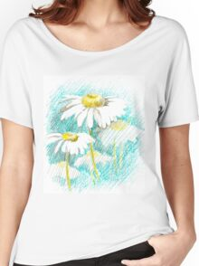 Field camomiles. Women's Relaxed Fit T-Shirt