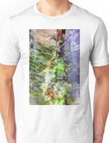 Frozen green leaves Unisex T-Shirt