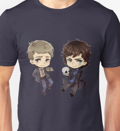 Chibi Sherlock and John Unisex T-Shirt