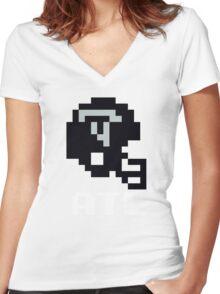 Tecmo Bowl, Tecmo Bowl Shirt, Tecmo Bowl T-shirt, Tecmo Bowl Helmet, ATL Helmet, ATL Women's Fitted V-Neck T-Shirt