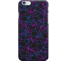 Abstract Geometric 3D Triangle Pattern in Blue / Pink iPhone Case/Skin