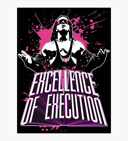 """Bret Hitman Hart """"Excellence of Execution! Photographic Print"""
