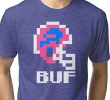 Tecmo Bowl, Tecmo Bowl Shirt, Tecmo Bowl T-shirt, Tecmo Bowl Helmet, BUF Helmet, BUF Tri-blend T-Shirt