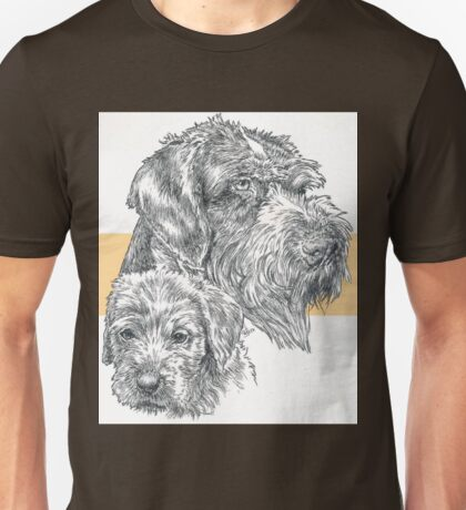 German Wire-haired Pointer, Father and Son Unisex T-Shirt